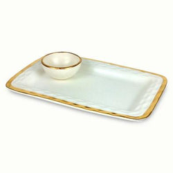 Truro Gold Chip & Dip Tray