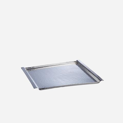 Silver Hammered Square Tray