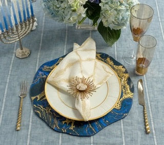 COSMOS PLACEMAT IN MIDNIGHT & GOLD, SET OF 4