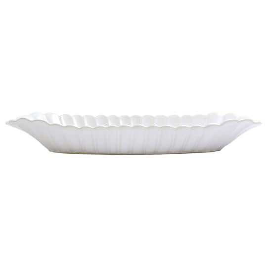 Incanto stone white scallop bread server