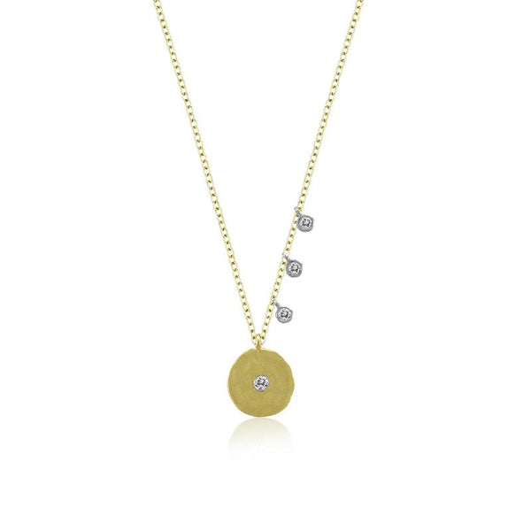 Off Center Disk Necklace