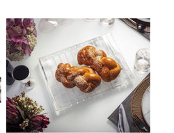 MARBLE STRIPED ACRYLIC CHALLAH BOARD