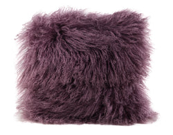 "Tibetan Sheep Skin Pillows 16"" x 16"" Square"