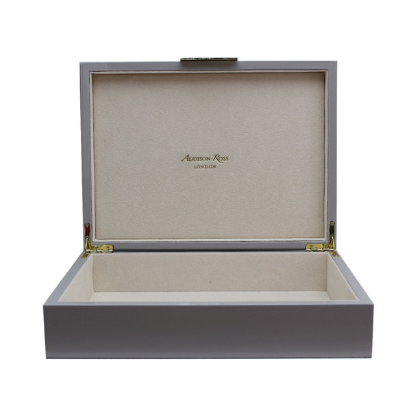 Chiffon Lacquered Jewelry Box With Gold