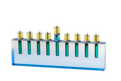 Oil Menorah Blue