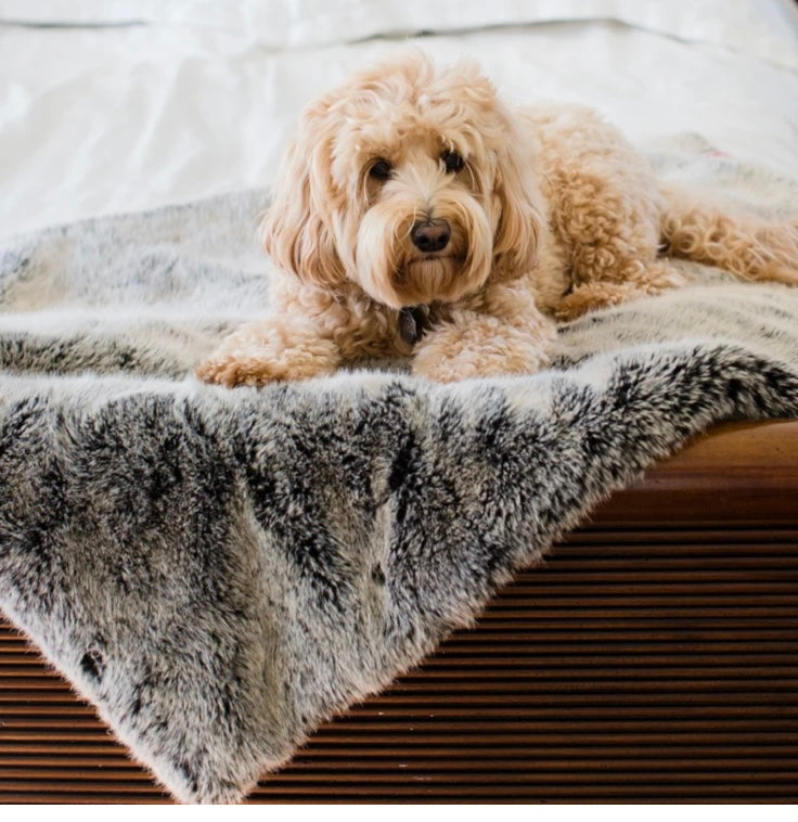 Faux-Fur Large Pet Blanket