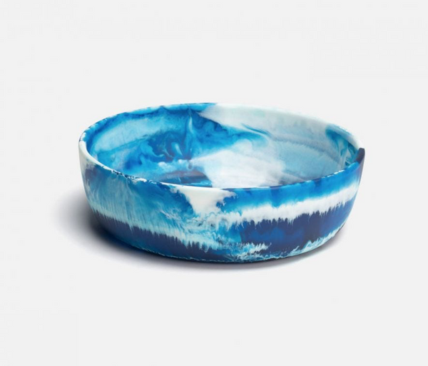 Hugo Blue Swirled Resin Salad Bowl
