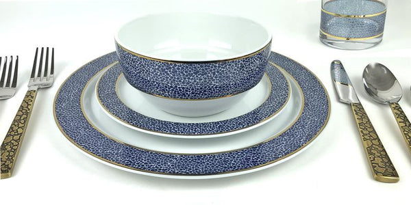 Panthera Indigo Dinner Set