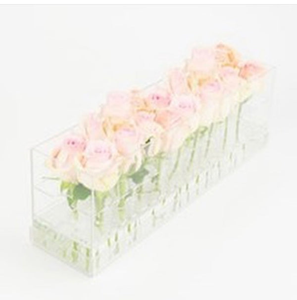 18-Hole Lucite Flower Box Vase
