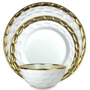 Truro  3-Piece Dinner Set Gold or Platinum