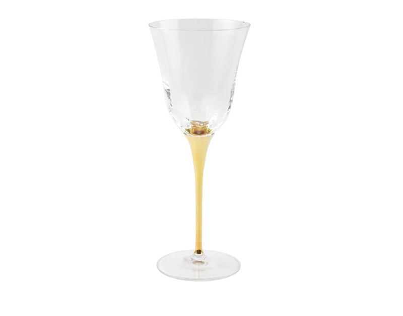 Optical Gold Stem Water Glass