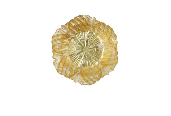 Rufolo Glass Gold Flower Small Bowl