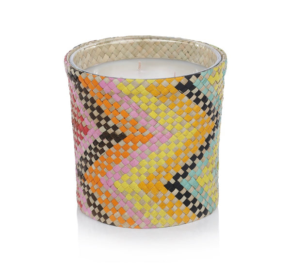 Mia Fragranced Candle-Multi Color Zig Zag