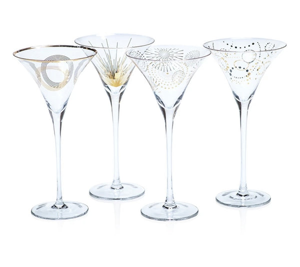 Celebration Martini Glasses Gift Set of 12