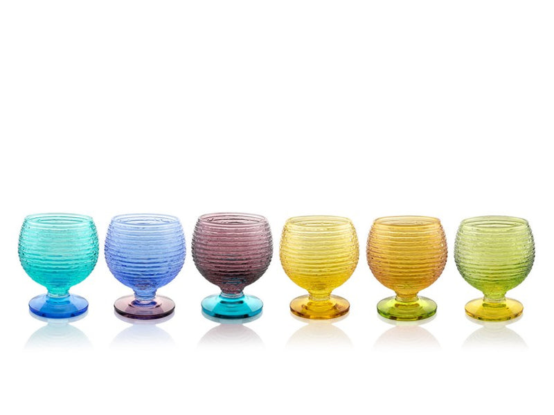 MULTICOLOR set of 6 Liquor Glasses