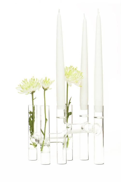 Trio Candelabras/Bud Vase Set of 2