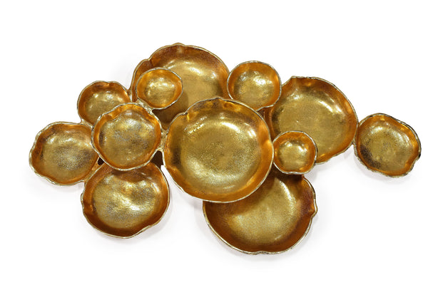 Cluster of Twelve Gold Serving Bowls