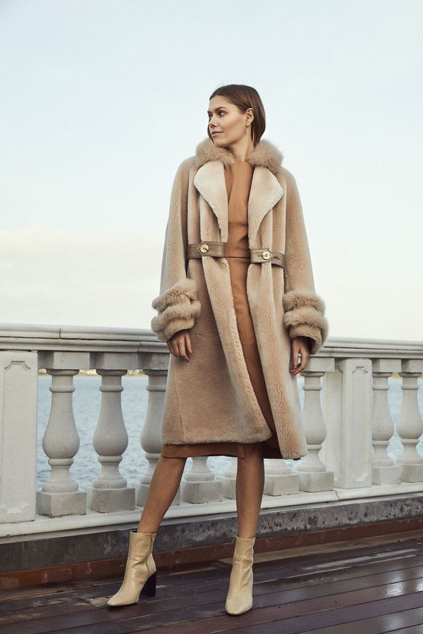 Molin Coat in Beige
