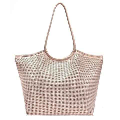 Perforated Shimmer Tote