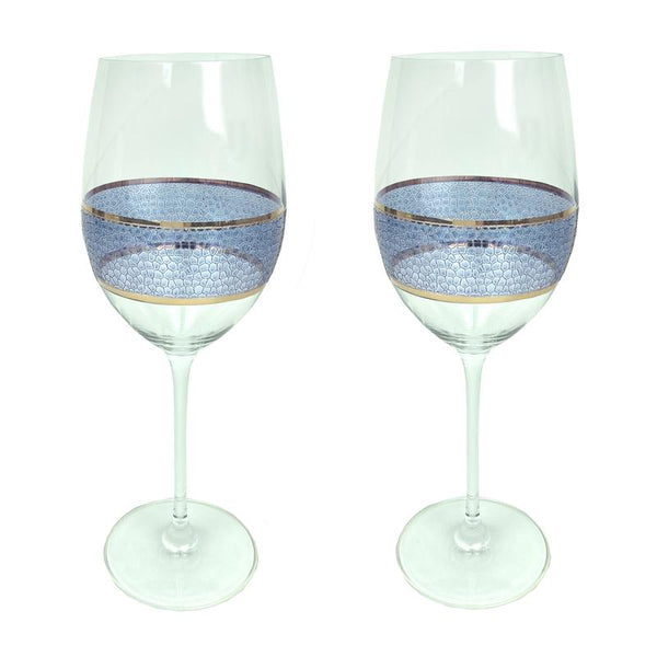 Panthera Indigo Wine Set of 2