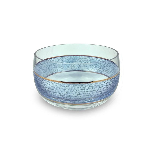 Panthera Indigo Medium Glass Bowl