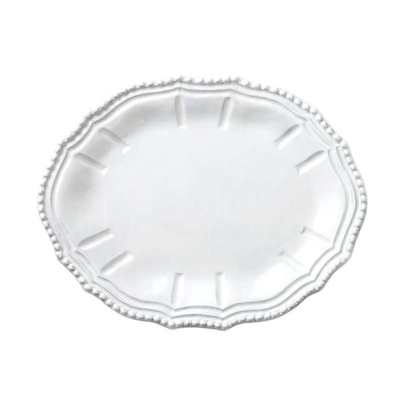 Incanto White Baroque Small Oval Platter