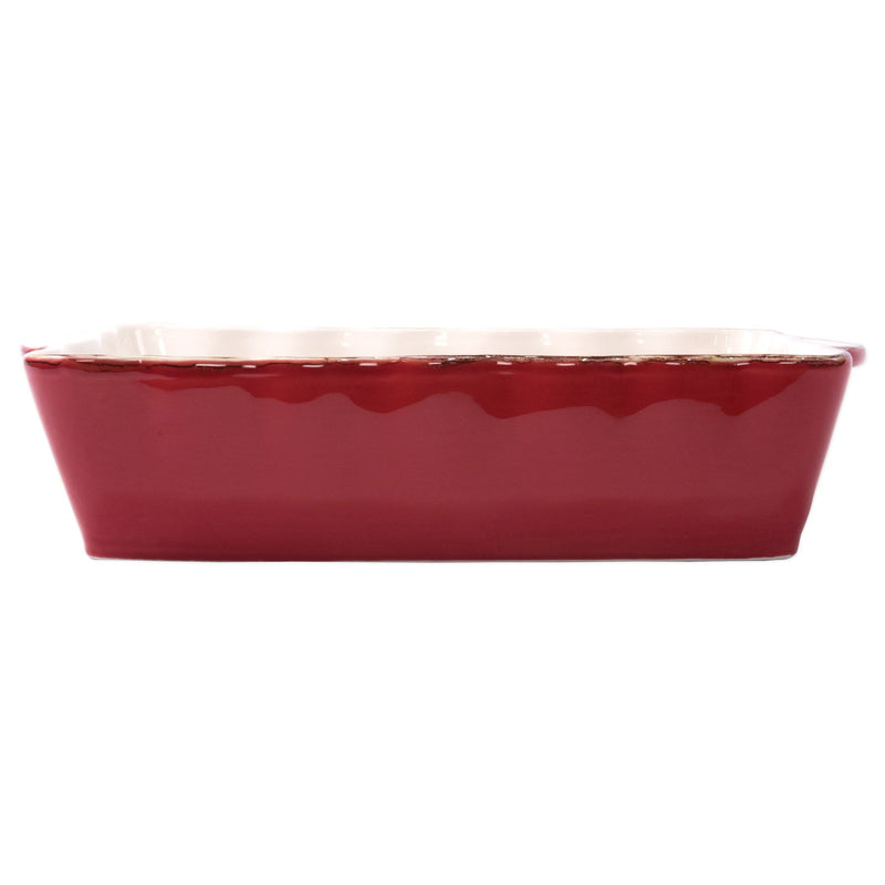 Italian Bakers Red Large Rectangular Baker