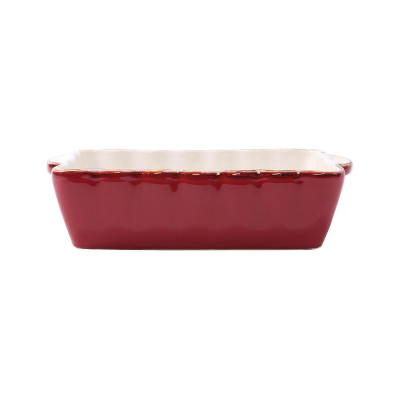 Italian Bakers Red Small Rectangular Baker