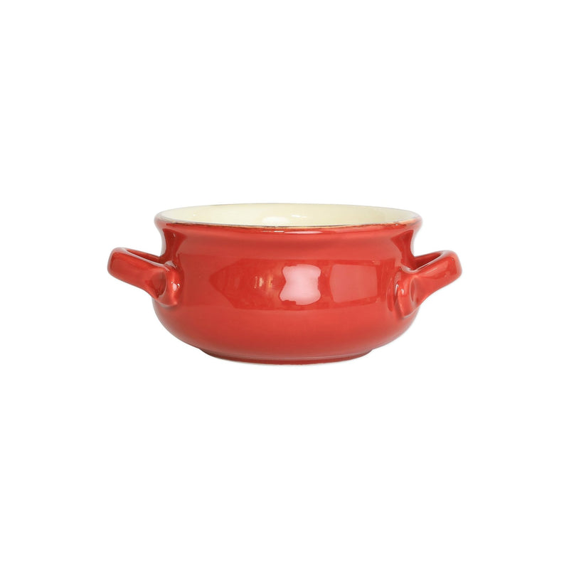 Italian Bakers Red Small Handled Round Baker