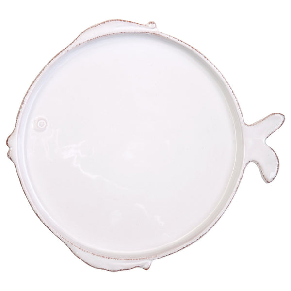 Melamine Lastra Fish White Dinner Plate