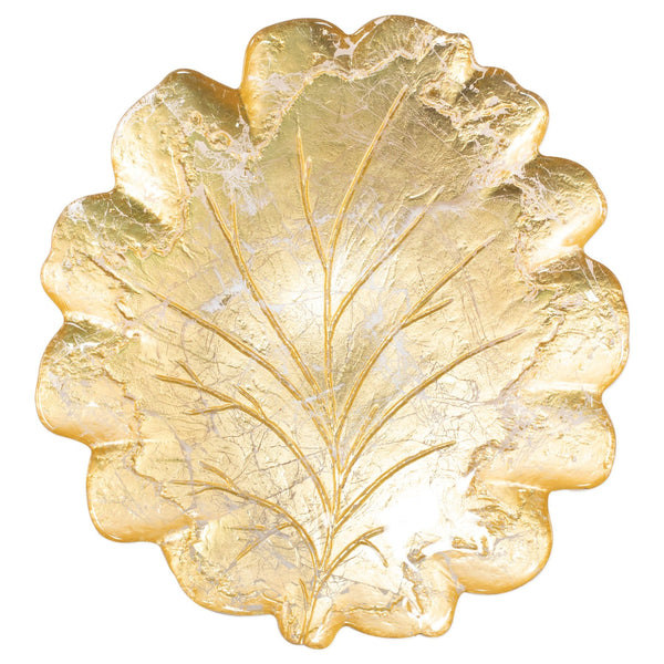 Moon Glass Leaf Platter