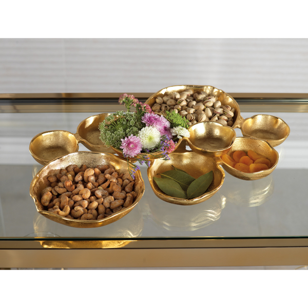 Cluster of Nine Serving Bowls - Gold