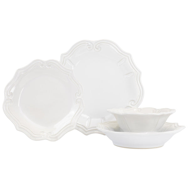 Incanto Stone Linen Baroque Four-Piece Place Setting