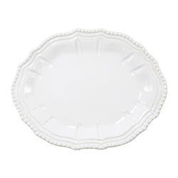 Incanto Stone White Baroque Small Oval Platter