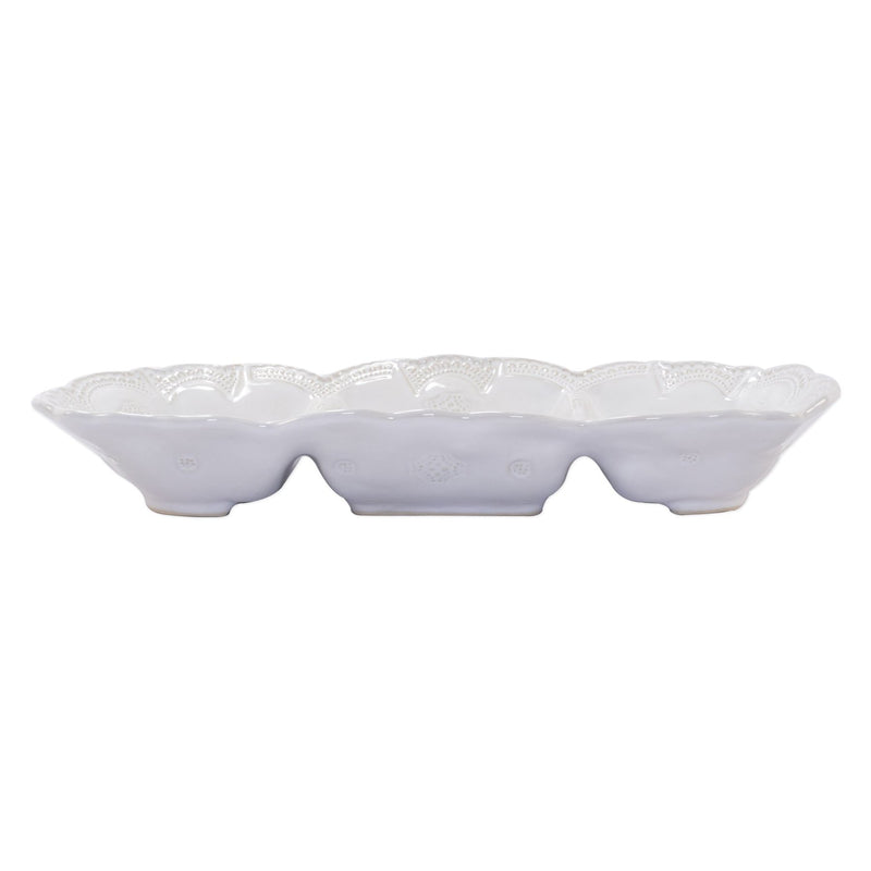 Incanto Stone White Lace Medium Three-Part Server