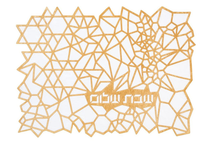 Challah Cover Geometric Gold