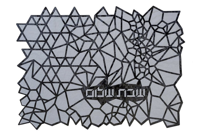 Challah Cover Geometric Black