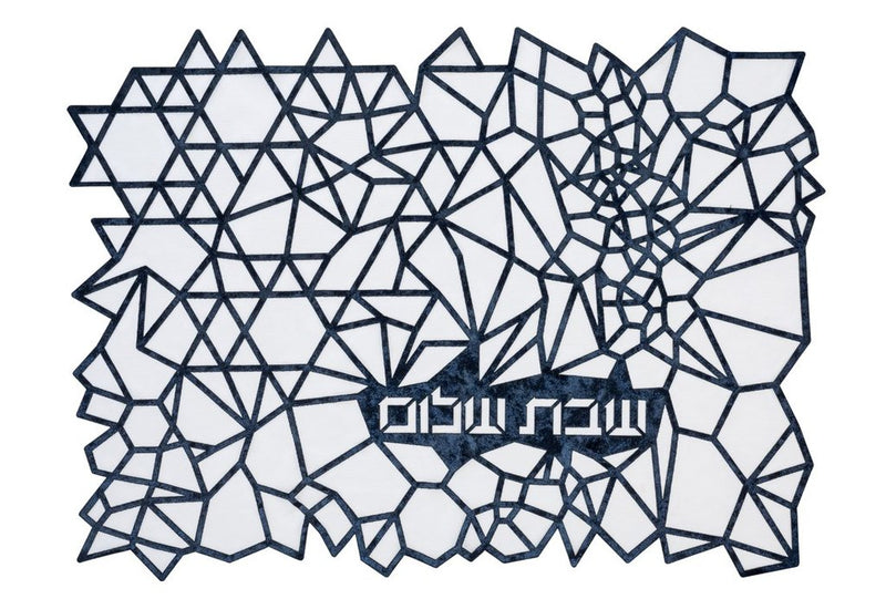 Challah Cover Geometric Blue