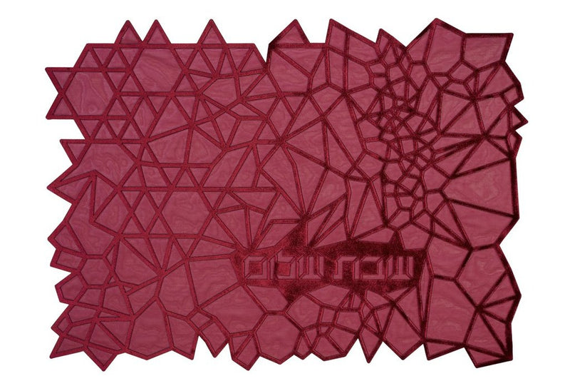 Challah Cover Geometric Burgundy