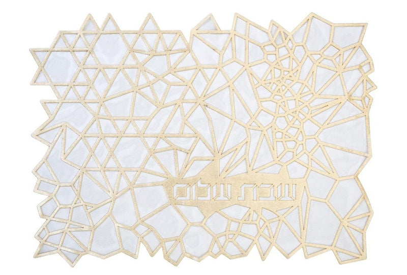 Challah Cover Geometric Cream