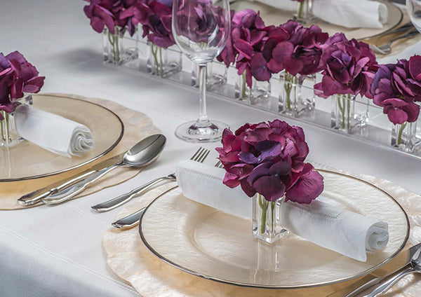 Faux-Flower Napkin Ring System