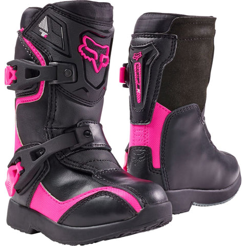 FOX RACING KIDS COMP 5 BOOTS - BLACK PINK