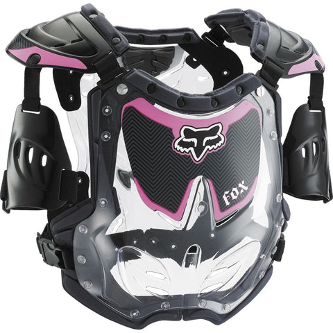 FOX RACING YOUTH GIRLS R3 ROOST DEFLECTOR - BLACK PINK