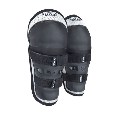 FOX RACING PEEWEE TITAN KNEE SHIN GUARD - BLACK SLIVER