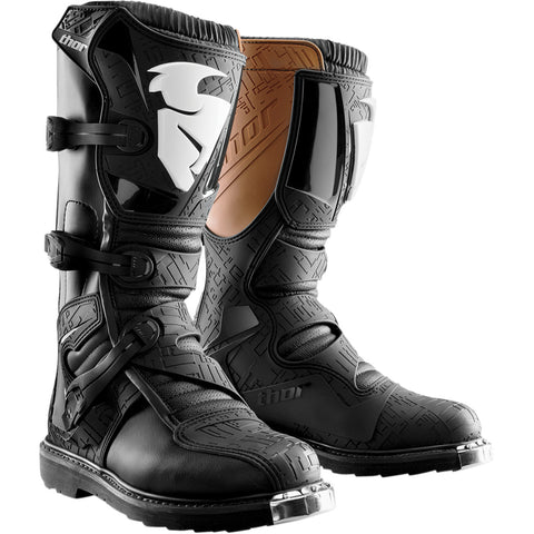 THOR YOUTH BLITZ S4 BOOTS - BLACK BROWN