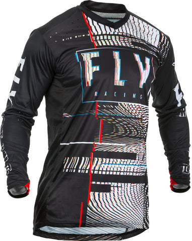 NEW 2020 FLY RACING FLY LITE GLITCH JERSEY - BLACK RED BLUE