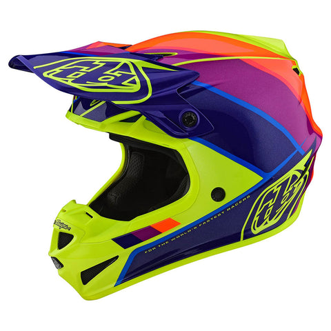 NEW 2020 TROY LEE DESIGNS SE4 POLYACRYLITE BETA HELMET - YELLOW PURPLE