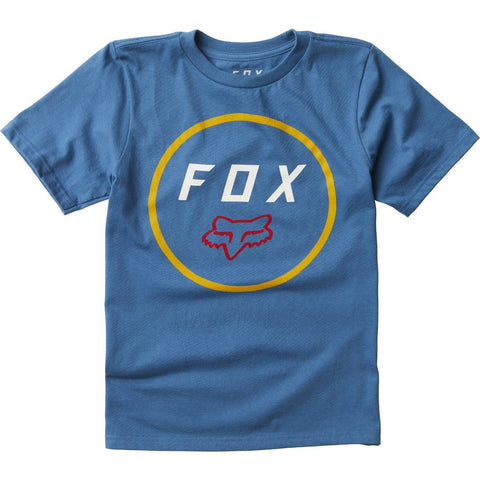 FOX RACING YOUTH SETTLED SS TEE - BLUE YELLOW