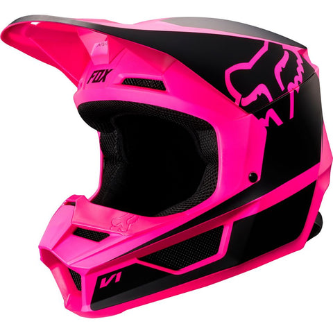 FOX RACING YOUTH V1 PRZM HELMET - BLACK PINK
