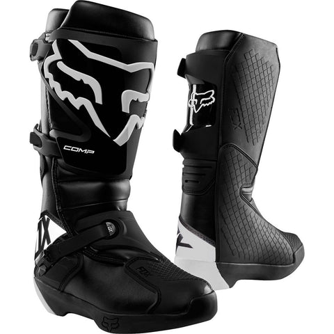 FOX RACING MENS COMP BOOTS - BLACK WHITE